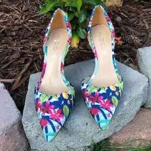 Aldo floral high heels. Size 8